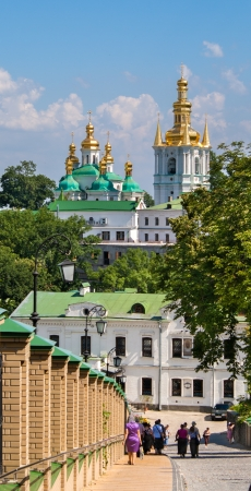 View of ancient monastery included in Kyiv Pechersk Lavra, Ukraine