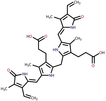 structural: Bilirubin structural formula
