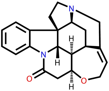convulsions: Strychnine, a highly toxic alkaloid that couses muscular convulsions and death through asphyxia Illustration