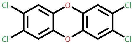 dioxin: Poison 2,3,7,8-Tetrachlorodibenzo-p-dioxin  dioxin   Structural formula
