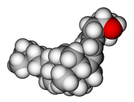 Model of Vitamin D3 molecule Stock Photo - 14313839