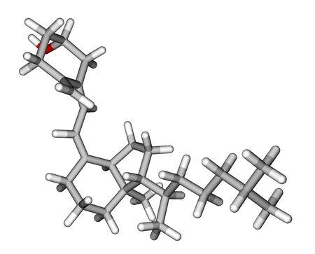 Vitamin D3  Cholecalciferol   molecular model photo