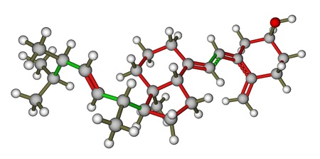 Vitamin D2  Ergocalciferol  3D molecular model Stock Photo - 14313836