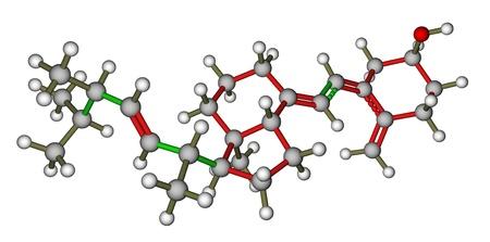 Vitamin D2  Ergocalciferol  3D molecular model Stock Photo - 14313836