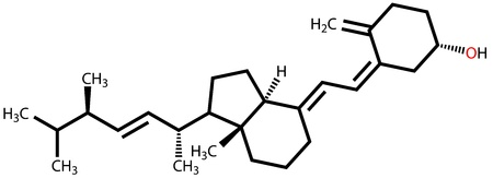 Vitamin D2  Ergocalciferol  structural formula Stock Vector - 14313828