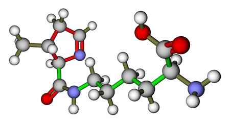 Acides amin�s pyrrolysine structure mol�culaire 3D photo