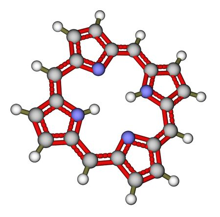 Porphin 3D molecular structure photo