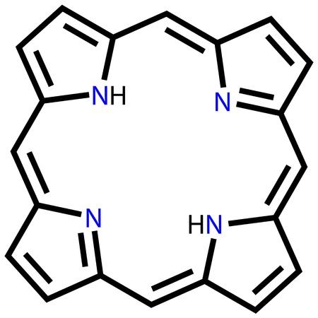 Porphin structural formula Vector