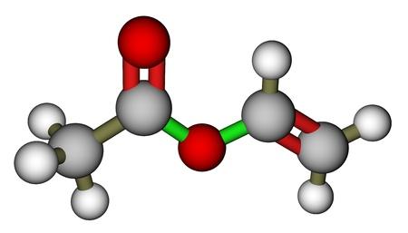 Vinyl acetate 3D molecular structure