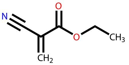 Ethyl cyanoacrylate, an instant glue  Structural formula Stock Vector - 14552906