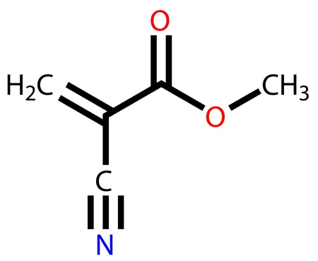 rubbery: Methyl cyanoacrylate, an instant glue  Structural formula Illustration