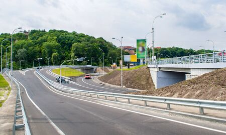 Road interchange in Kyiv, Ukraine photo