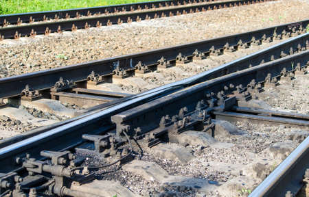 Swingnose railway crossing  Moveable point frog Stock Photo - 14552909