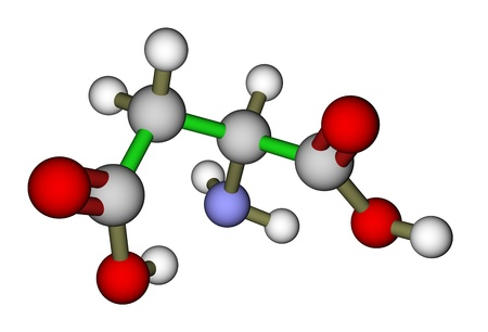 Amino acid aspartic acid molecule photo