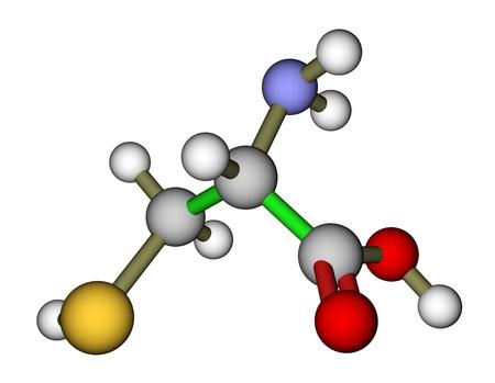 3d nitrogen: Amino acid cysteine molecular structure