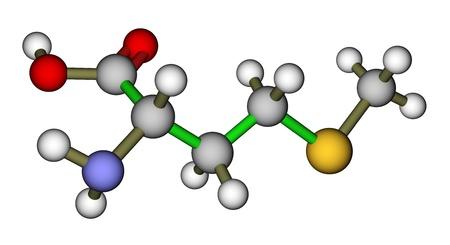Essentielle Aminosäure Methionin molekulare Struktur