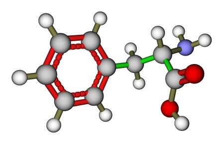 precursor: Essential amino acid phenylalanine 3D molecular structure