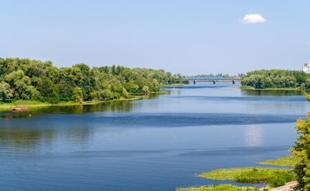 the dnieper: View of Dnieper river in Kiev, Ukraine