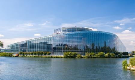 Edifício do Parlamento Europeu em Estrasburgo, França Imagens
