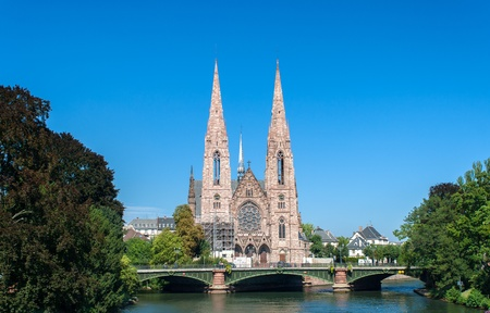 Eglise Saint-Paul in Strasbourg, France Stock Photo