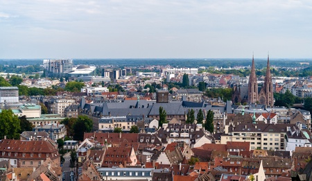 View of Strasbourg from a roof of the cathedral photo