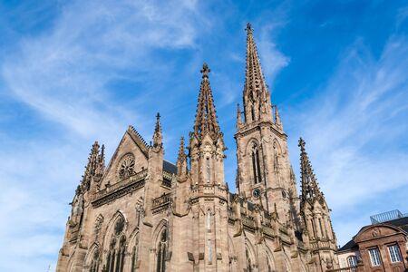 saint stephen cathedral: Temple Saint-Etienne of Mulhouse  Alsace, France