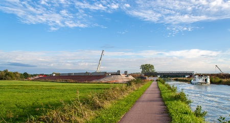 est: Construction of LGV Est europeenne  high-speed railway  near Strasbourg, France