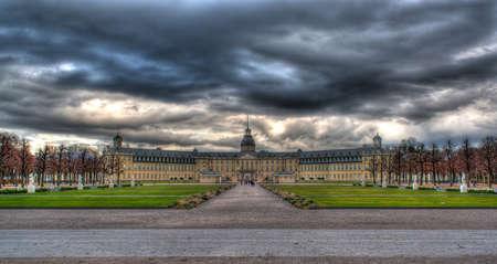 karlsruhe: Karlsruhe Palace - Baden-Württemberg, Germany  HDR image