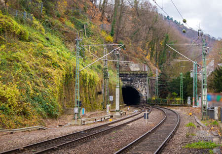 Railway tunnel in Heidelberg, Deutsche Bahn - Germany  Odenwald mountains photo