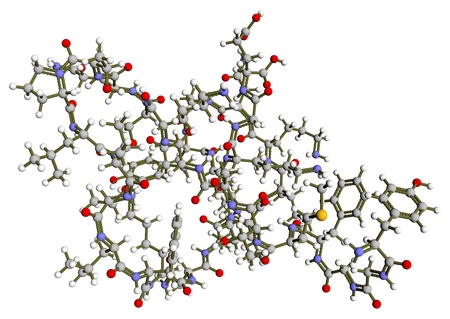 Beta-endorphin 3D molecular structure photo
