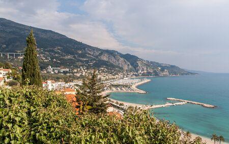 alpes maritimes: View of Garavan - Menton - French Riviera Stock Photo