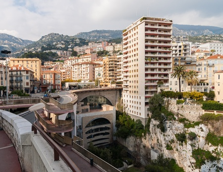 View of Monaco railway station photo