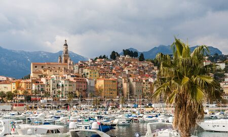 menton: View of Menton city - French Riviera, France