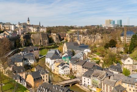 Ansicht von Luxemburg Altstadt