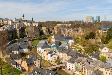luxembourg: View of Luxembourg historic center