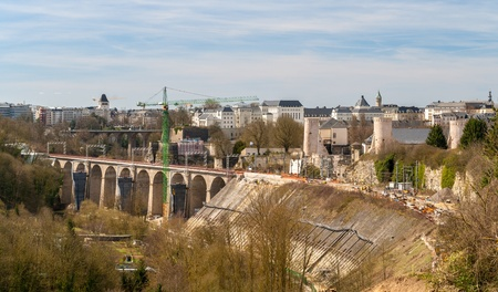 viaducts: View of railway viaducts in Luxembourg city