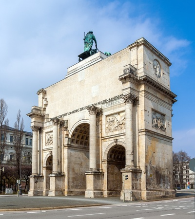 Siegestor  Victory Gate  in Munich, Bavaria - Germany photo
