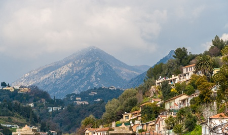 View of Ligurian Alps near Menton - French Riviera photo