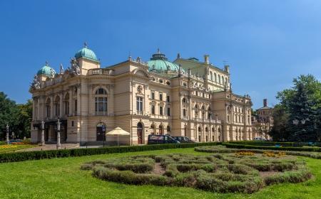 cracovia: Juliusz Slowacki Theatre in Krakow - Poland Stock Photo