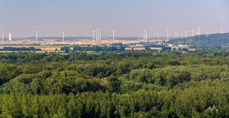 Wind farm in Austria, view from Bratislava Castle Stock Photo - 21743683