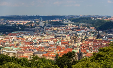 View of Prague Old Town  Stare Mesto  - Czech Republic photo