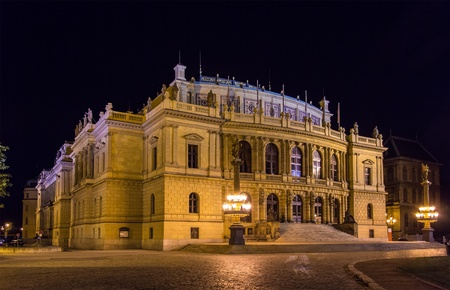 The Rudolfinum, a music auditorium in Prague, Czech Republic