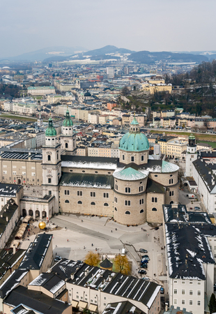 View of Salzburg with the Cathedral - Austria photo