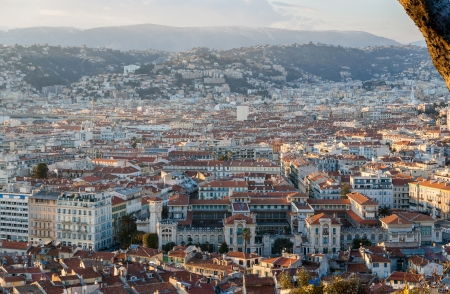 View of Nice city with Lycee Massena - French Riviera photo