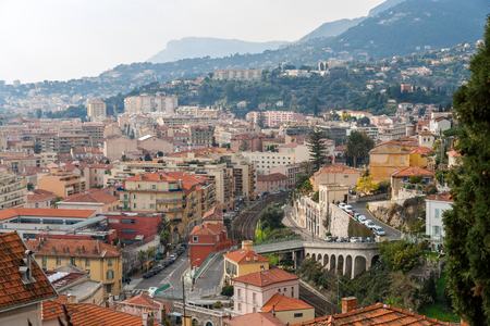 menton: Menton city - Cote dAzur Stock Photo