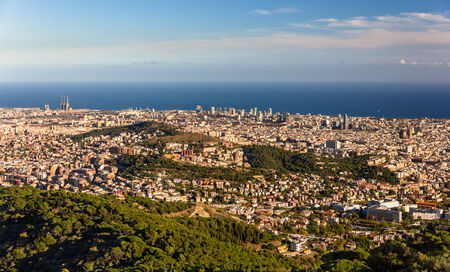 View of Barcelona including Sagrada Familia and Torre Agbar photo