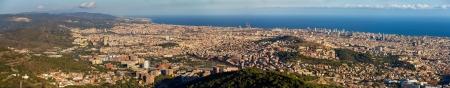 sagrat cor: Panorama of Barcelona from the top of Sagrat Cor temple