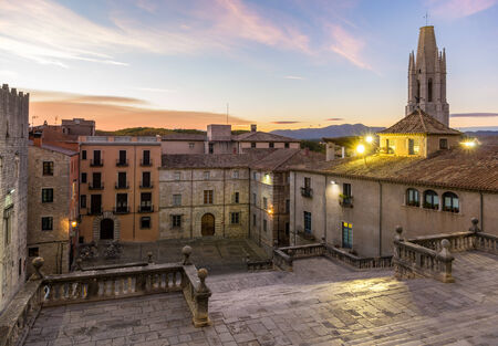 View from the Girona Cathedral - Catalonia, Spain photo