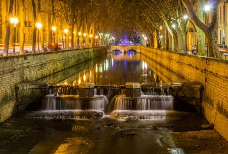 fontaine: Quais de la Fontaine in Nimes, France