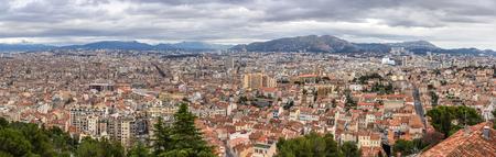 Panorama de Marseille de Notre-Dame de la Garde Banque d'images